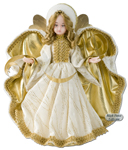 German Tree Topper Wax Angels